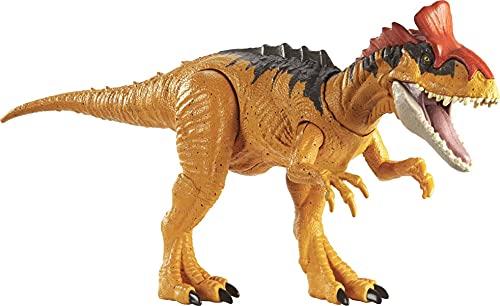 Jurassic World GJN66 - Brüll-Attacke Cryolophosaurus Dinosaurier-Actionfigur, Spielzeug ab 4 Jahren