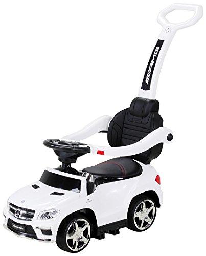 Actionbikes Motors Kinder Rutschauto Mercedes Amg GL 63 - Lizenziert - 4 in 1 - Schiebestange - Rutscher...