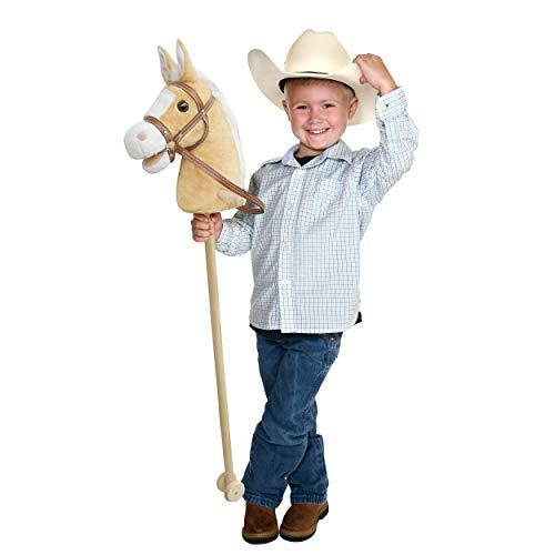 Pink Papaya Steckenpferd, Goldy, süßes Spielzeug Pferd aus Plüsch mit Sound Funktion: Gewieher und...
