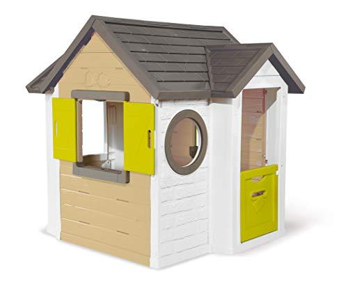 Smoby - Mein Neues Haus - Spielhaus für Kinder für drinnen und draußen, erweiterbar durch Zubehör,...