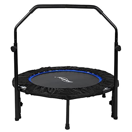 Physionics® Fitness Trampolin - Ø 101 cm, höhenverstellbarer Haltegriff, bis 150 kg, klappbar -...