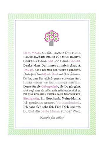 Geschenk für Mama - besondere Geschenkidee zum Muttertag, Geburtstag, Weihnachten - persönliches Bild...