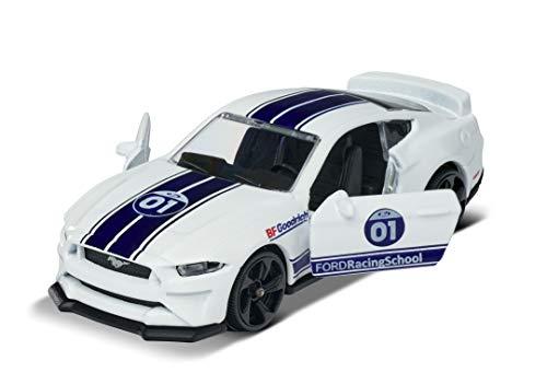 Majorette 212084009Q15 Racing Ford Mustang GT, Spielzeugauto, Freilauf, zu öffnende Teile, Sammelkarte,...