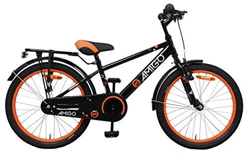 Amigo Sports - Kinderfahrrad für Jungen - 20 Zoll - mit Handbremse, Rücktritt, fahrradständer und...