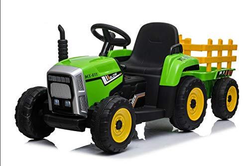 RV-Parts Kinder Elektroauto Traktor Kinderauto Kinder Fahrzeug Elektro 2x25 W Trecker Kindertraktor Grün