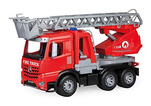 Lena 04615 - Worxx Feuerwehr Leiterwagen Mercedes Benz Arocs, Feuerwehrauto ca. 48 cm, Feuerwehrwagen mit...