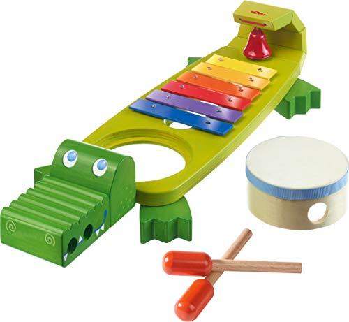 Haba 302566 - Klapper-Krokodil mit 4 spannenden Klanginstrumenten