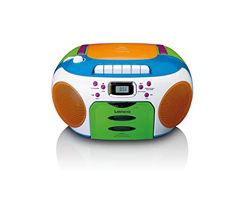 Lenco SCD-971 -Kinderradio - Kassettenradio mit CD - CD-Radio - Kassettenplayer - Stereo Lautsprecher -...