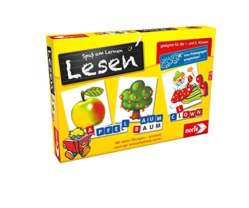 Noris 606076340 Spaß am Lesen, Kinder Lernspiel zum Lesenlernen, Wort, Bildlesekarten und...