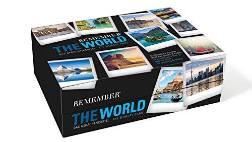 Remember MEM03 Remember 44 'The World' in der Magnetbox, Gedächtnisspiel, 44 Kartenpaare