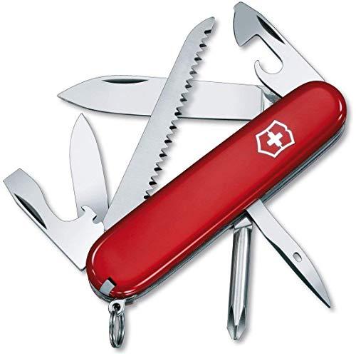 Victorinox Kinder Taschenmesser My First Victorinox H 9 Funktionen, Runde Klinge rot transparent