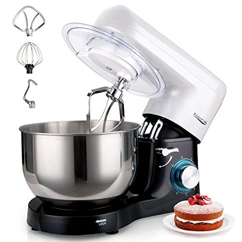Küchenmaschine, Elegant Life 1500W Auto-Knetmaschine Rührgeräte mit 5.5L Edelstahl Rührschüssel, 6...