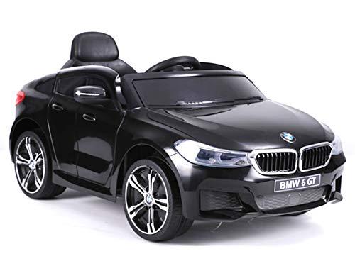 ES-TOYS Kinderfahrzeug Elektro Auto BMW 6GT - lizenziert - 12V, 2 Motoren+ 2,4Ghz+ Ledersitz+Eva...