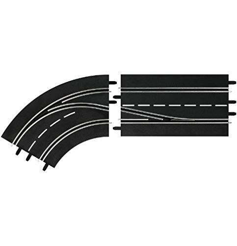 Carrera 4007486303621 20030362-Digital 132/124 Spurwechselkurve Links, innen nach außen