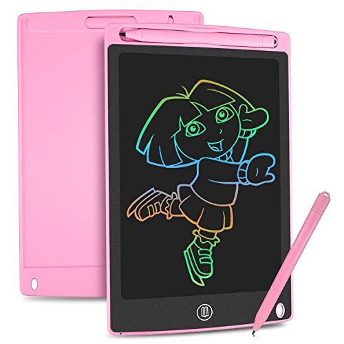 HOMESTEC LCD Schreibtafel 8,5 Zoll, Schreibtafel Buntes Display Kinder Laptop für Notieren/Zeichnen,...