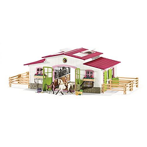 Schleich 42344 Horse Club Spielset - Reiterhof mit Reiterin und Pferden, Spielzeug ab 5 Jahren