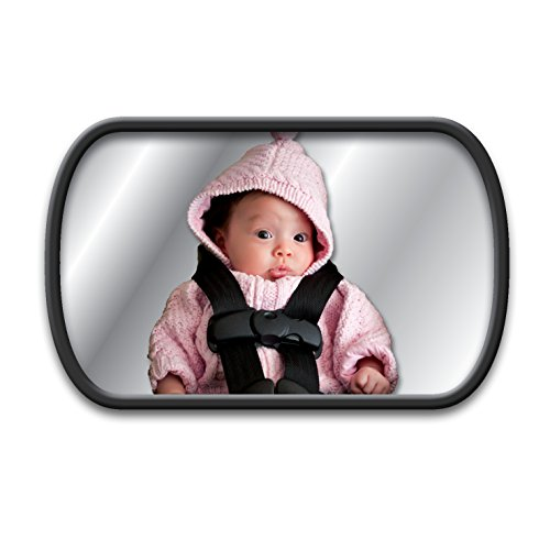 Lina M. Ruecksitzspiegel für Babys im Auto mit 2 Befestigungsvarianten, an der Kopfstütze, oder an der...