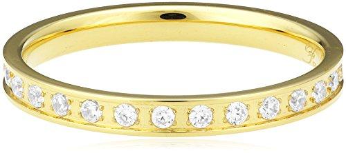 Bering Damen-Ring Edelstahl teilvergoldet Zirkonia weiß Gr. 54 (17.2)-556-27-51