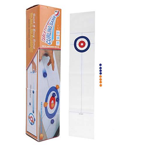 Asixxsix Tisch-Curling-Spiel, kleines einfaches Curling-Spiel für Erwachsene, Edelstahl für Kinder...