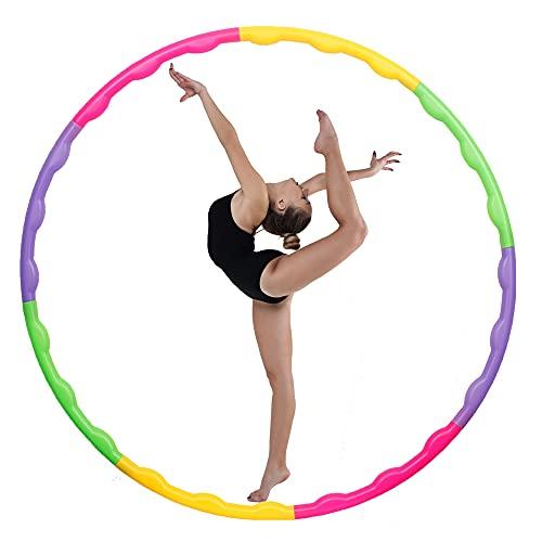 joofang 8 Teile profi Kinder Hula Hoops, farbig Plastik Reifen, Durchmesser 65 cm,Gewicht120g,...