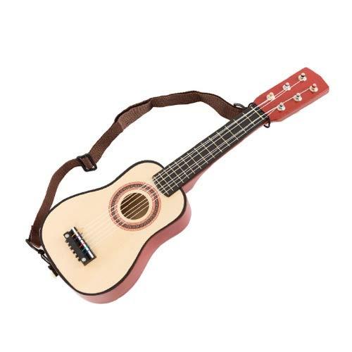 Lihgfw 3-9 Jahre alte Kinder Holz-Spielzeug-Gitarre Ukulele Kleine Musikinstrumente...