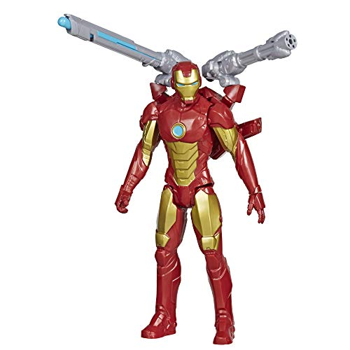 Hasbro E7380 Marvel Avengers Titan Hero Serie Blast Gear Iron Man, 30 cm große Figur, mit Starter, 2...