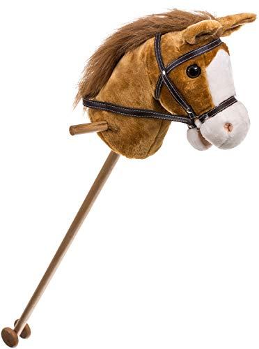 Bieco Steckenpferd Kinder Brownie   ca. 100 cm   Top Qualität   Holzpferd Draußen & Drinnen  ...