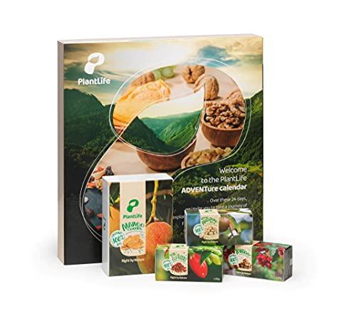 PlantLife Adventskalender 2021 – Veganer Weihnachtskalender mit feinsten BIO Nüssen, Trockenfrüchten...