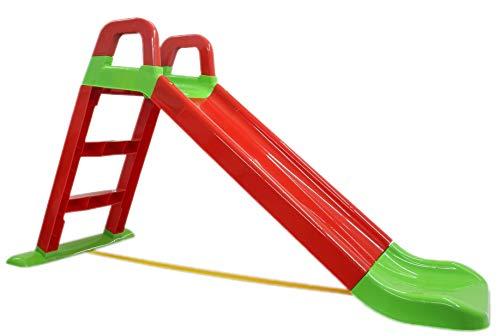 BUSDUGA Rutsche Rot - kompakte Kinderrutsche ab 18 Monate - robuster Kunststoff