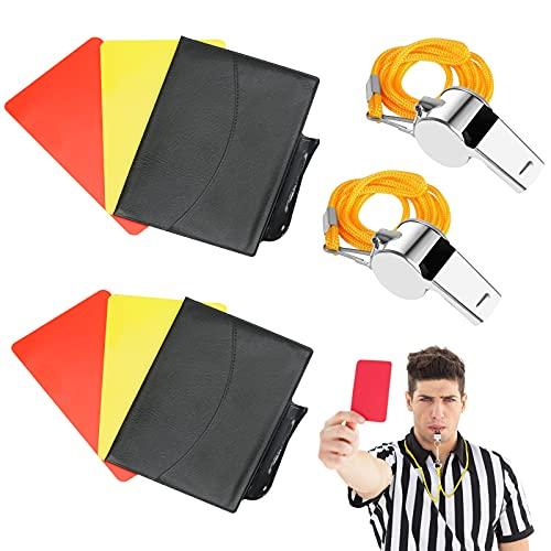 CINVEED Sport Schiedsrichter Karten Set Fußball Pfeifen