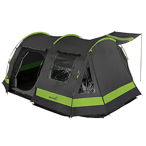 Skandika Kambo Tunnelzelt für 6 Personen | Zelt mit Schlafkabine für 6 Mann, Wasserdicht mit 3000...