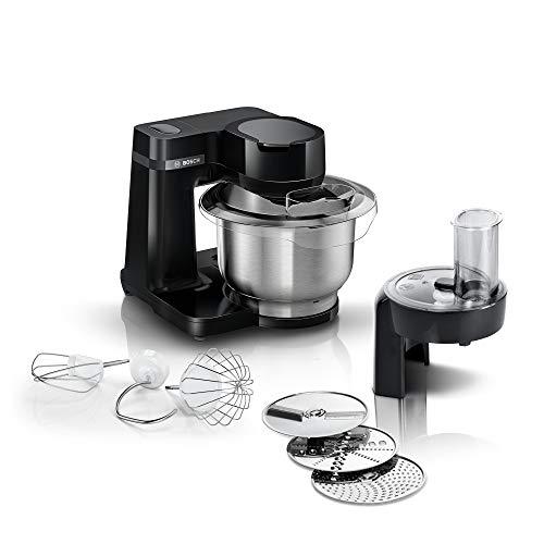 Bosch MUMS2EB01 Küchenmaschine MUM Serie 2, 700 W, 3,8 L Edelstahlschüssel, Durchlaufschnitzler und 3...