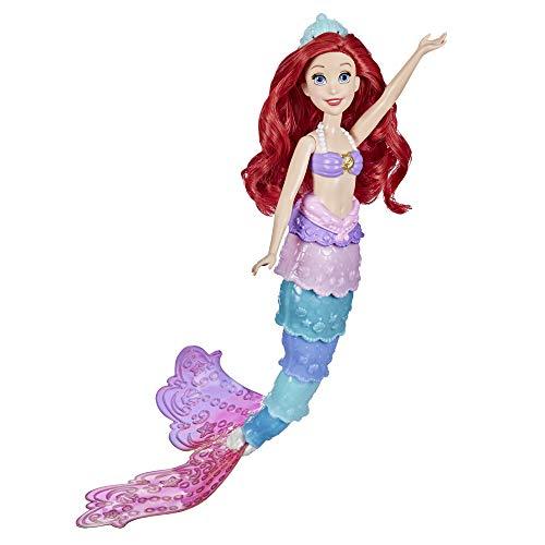 Hasbro F0399 Disney Prinzessin Regenbogenzauber Arielle, Puppe mit Farbwechsel, Wasserspielzeug zu...