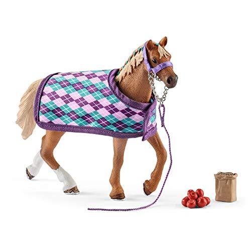 Schleich 42360 Horse Club Spielset - Englisches Vollblut mit Decke, Spielzeug ab 5 Jahren