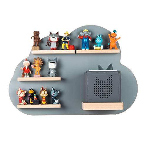BOARTI Kinder Regal Wolke small in Grau - geeignet für die Toniebox und ca. 25 Tonies - zum Spielen und...