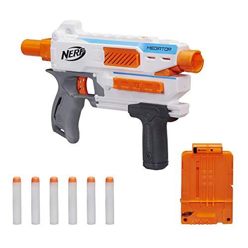 Nerf Modulus Mediator Blaster – feuert 6 Darts nacheinander ab, Pump-Action, Schnellfeuer, enthält...