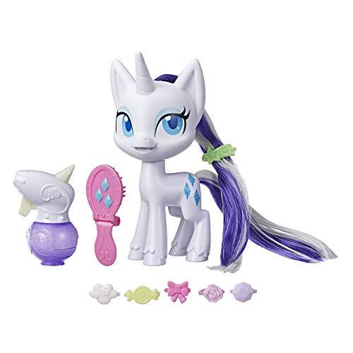 My Little Pony Rarity mit magischer Mähne – 16,5 cm große Hair-Styling Ponyfigur mit wachsenden...