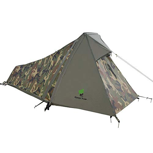 GEERTOP Bivvy Biwaksack Trekkingzelt Campingzelt Zelt Minipack Leicht - 213 x 101 x 91 cm H (1,5kg) -1...