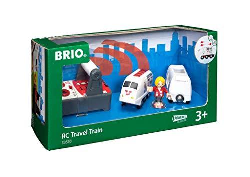 BRIO World 33510 IR Express Reisezug – Elektrische Lokomotive mit Fernsteuerung – Zubehör für die...