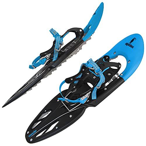 ALPIDEX Schneeschuhe 29 INCH Schuhgröße 38-46 bis 140 kg Steighilfe Tragetasche Optional Stöcke,...