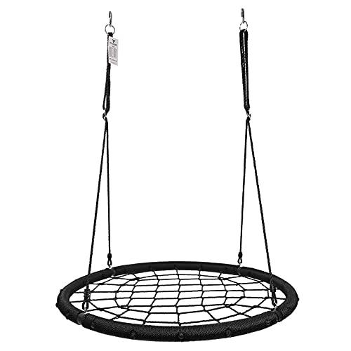 Physionics® Nestschaukel - Spinnennetz, für Kinder/Erwachsene, Outdoor/Indoor, 120cm Sitzfläche, bis...