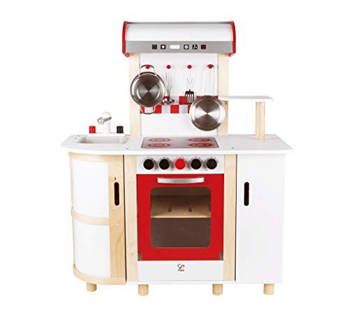 Hape E8018 - Küchentraum, Kinderküche inklusive Zubehör (Topf, Pfanne, Pfannenwender und...