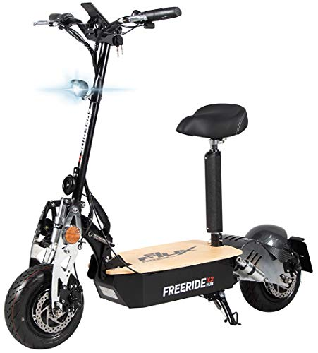 eFlux Freeride X2 Elektroroller Scooter - 2500 Watt Motor - Straßenzulassung - 60 Volt Hub-Version - Bis...