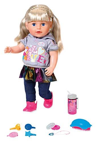 Zapf Creation 824603 BABY born Soft Touch Sister Blond Puppe mit lebensechten Funktionen und viel...