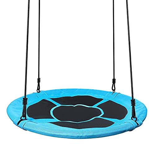 Yorbay Nestschaukel Tellerschaukel Kinder Rundschaukel Outdoor Ø 120 cm, Blau, kein verbleichen, bis 300...