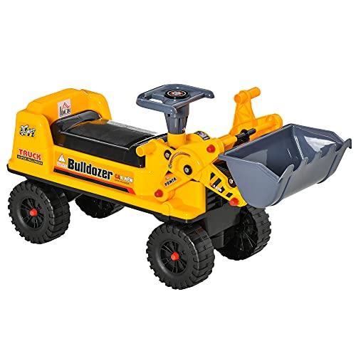 HOMCOM Sitzbagger für Kinder Rutsch Auto Sandspielzeug Rutscherfahrzeug für Kinder 2-3 Jahre...