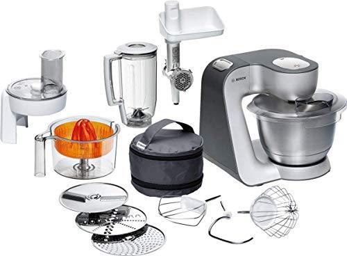 Bosch Küchenmaschine MUM5 Styline MUM56340, Schüssel 3,9 L, Mixer 1,25 L, Fleischwolf, Zitruspresse,...