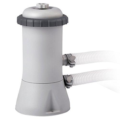 Intex 28604 Krystal Clear Cartridge Filter Pump - Pool Kartuschenfilteranlage - 1,7m3/h, Grau