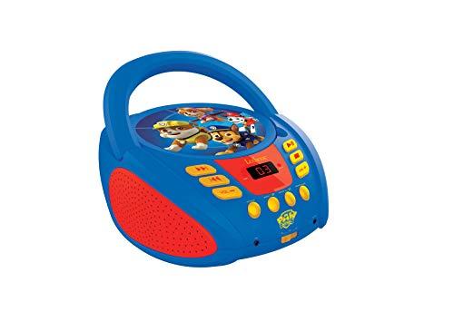 Lexibook RCD108PA Paw Patrol Tragbarer CD-Player für Kinder, Mikrofonanschluss, AUX-Eingangsbuchse,...