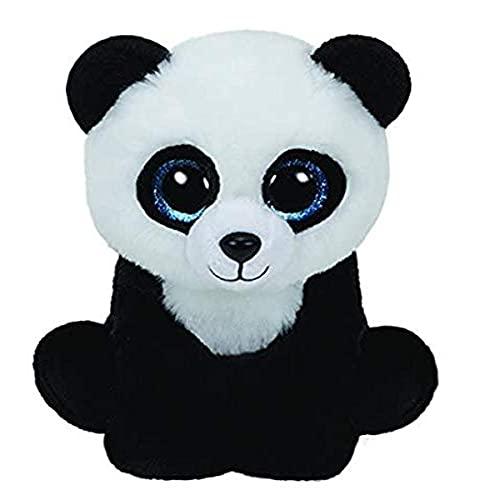 TY Baboo 41204 Panda mit Glitzeraugen, Weiß/schwarz